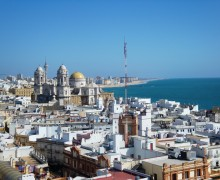 Standing on a rooftop in Cadiz, Spain searching for the perfect shot!